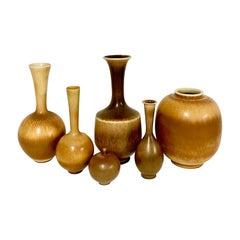 Set of 6 Vases by Berndt Friberg for Gustavsberg, Sweden