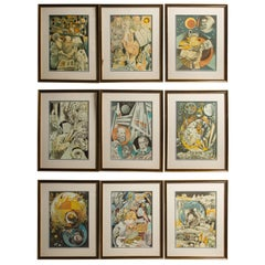Set of 9 Science Fiction Prints
