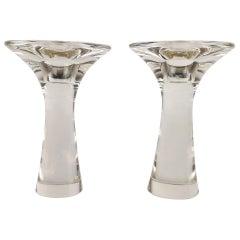 Set of Candlesticks Tapio Wirkkala Glass Iittala