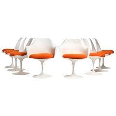 Set of Eight (8) Tulip Chairs by Eero Saarinen for Knoll