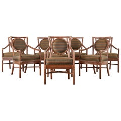 Set of Eight Orlando Diaz-Azcuy for McGuire Salon Chairs