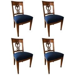 Set of Four Biedermeier Chairs, Switzerland, circa 1820-1830