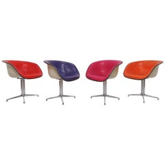 Set of Four Eames for Herman Miller La Fonda Armchairs, circa 1960s