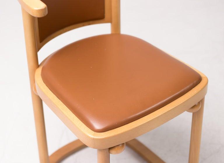 Art Nouveau Set of Four Josef Hoffmann Cabaret Fledermaus Chairs For Sale