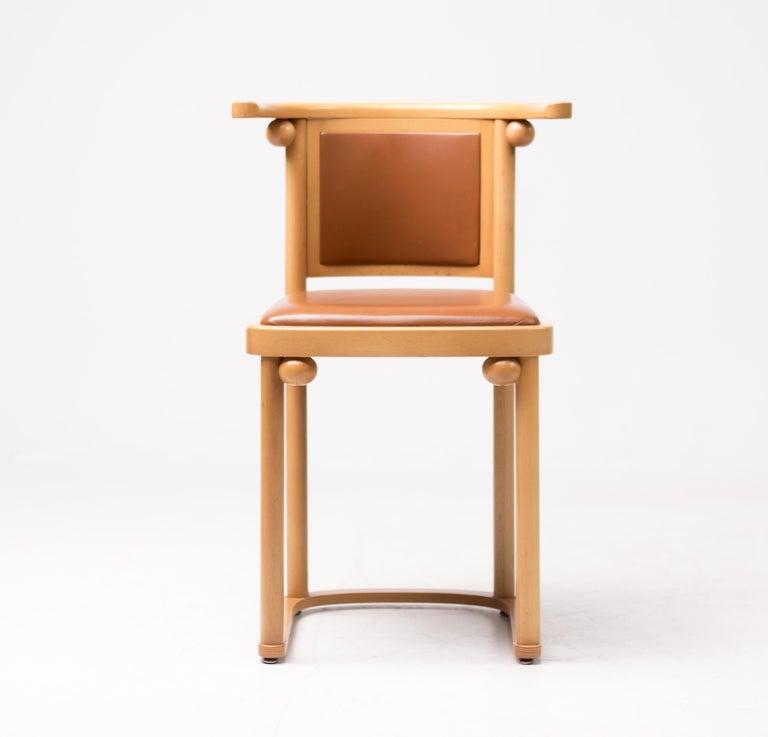 Leather Set of Four Josef Hoffmann Cabaret Fledermaus Chairs For Sale