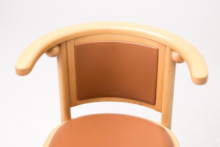 Set of Four Josef Hoffmann Cabaret Fledermaus Chairs For Sale 2