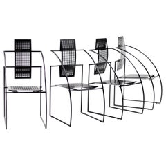 Set of Four Quinta Chairs by Mario Botta