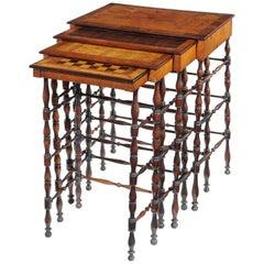 Set of Gillows Regency Specimen Wood Quartetto Tables