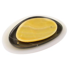 Set of Plates Hand Carved in Different Onyx and Stones by Pieruga Marble