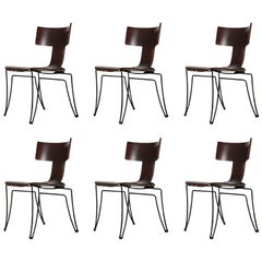 Set of Six Anziano Dining Chairs by John Hutton for Donghia