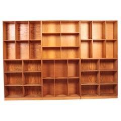 Set of Six Bookcases in Pine by Mogens Koch, Danish Design, Midcentury, 1950s