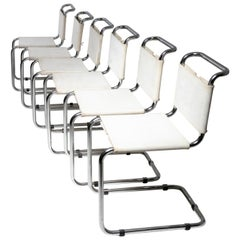 Set of Six Cantilever Chairs by Marcel Breuer for Gavina