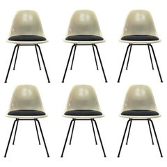 Set of Six Eames DSX Dining Chairs for Herman Miller, 1960