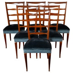 Set of Six Italian Midcentury Dining Chairs by Paolo Buffa, 1950