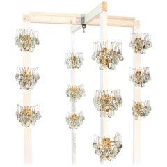 Set of Twelve Murano Glass Teardrop Wall Sconces, by Palwa, Germany, 1960s