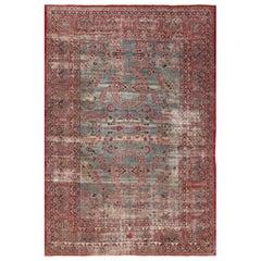 Shabby Chic Antique Persian Kerman Rug