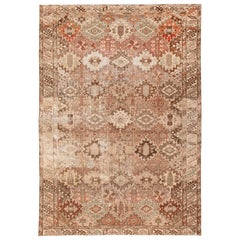 Shabby Chic Garden Design Antique Persian Malayer Rug. 6 ft 1 in x 9 ft 8 in