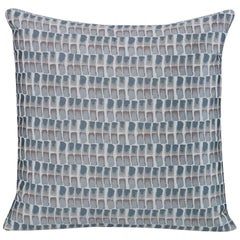 Shortstack Pillow in Gray and Blue by CuratedKravet
