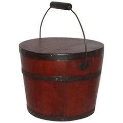 Signed 19th Century Shaker Painted Bucket