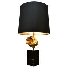 Signed Maison Charles Nautilus Shell Table Lamp, Mid-20th Century, France