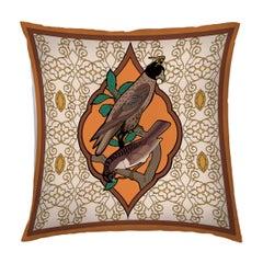 Silk Falcon Arabesque Pillow