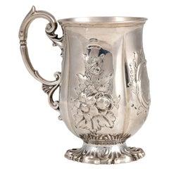 Silver Victorian Mug by John Le Gallais, Mid-19th Century
