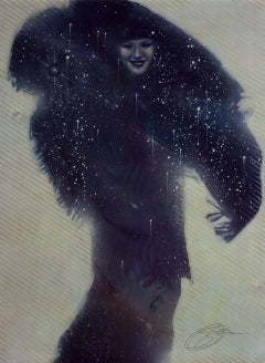 """""""The Magic Shawl"""" Limited Hand-Signed Surrealist Litho by Michael Whipple"""