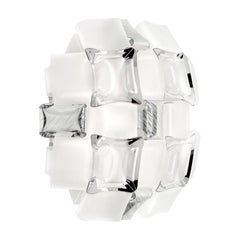 Slamp Mida Applique White/Platinum by Adriano Rachele