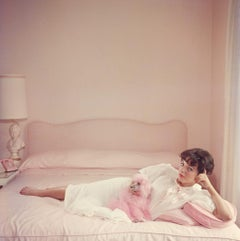 Slim Aarons - Joan Collins Relaxes - Estate Stamped