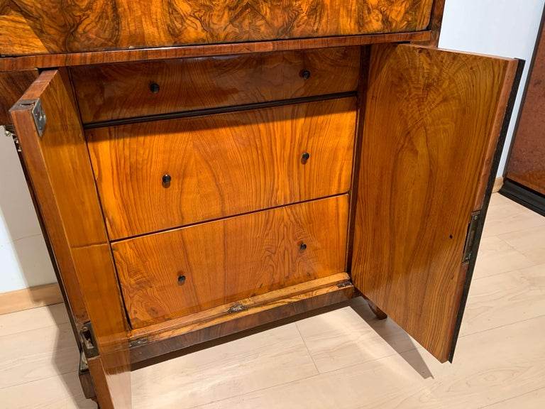 Small Biedermeier Secretaire, Walnut and Ash, Austria/Vienna, circa 1820 For Sale 6