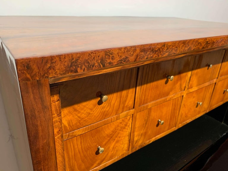Small Biedermeier Secretaire, Walnut and Ash, Austria/Vienna, circa 1820 For Sale 13
