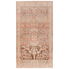 Small Tribal Antique Persian Malayer Rug. Size: 3 ft 7 in x 6 ft 3 in
