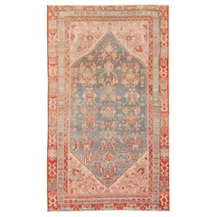 Small Tribal Casual Antique Persian Malayer Rug. Size: 3 ft 7 in x 6 ft 3 in