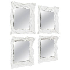 Small Wow Mirror Set of Two in White by Uto Balmoral & Mogg