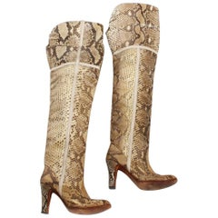 Snakeskin knee-high boot by Pasquale Di Fabrizio