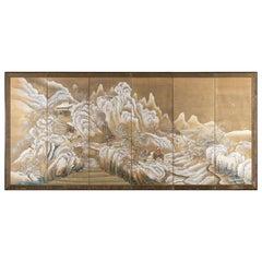 Snowy Landscape Panel, Takahashi Sohei, Japan, 19th Century