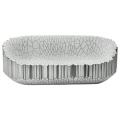Sofa 'My Collection' by Michael Young Polished Stainless Steel and White Resin