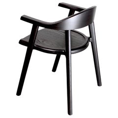 Solid Wood Karve Dining Chair in Black Ash by Möbius Objects