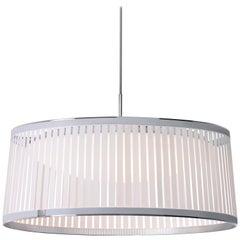 Solis Drum 24 Pendant Light in White by Pablo Designs