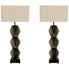"""""""Specchiato"""" Murano Glass Lamps by Alberto Dona"""