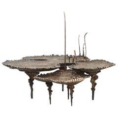 """Stanislaw Trzebinski, """"Archeoflavus Tripartitus"""", Bronze Table"""