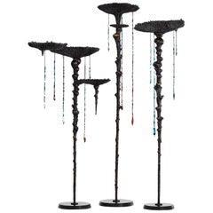 "Stanislaw Trzebinski, ""Haliocyano Fingiagigantea"", Bronze Sculptural Light"