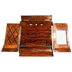 Stationary Cabinet, Writing Box, Walnut, circa 1870