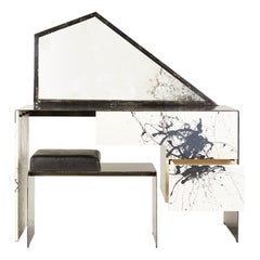 Stefan Rurak, Trapezoid Mirror Desk / Vanity, USA