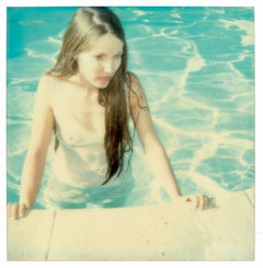 Pool Side - Contemporary, 21st Century, Polaroid, Figurative Photograph, Woman