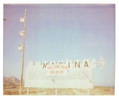 Salton Sea Marina (California Badlands) - Polaroid, Landscape, Contemporary