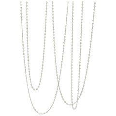 Stephen Russell Diamond Long Chain Set in Platinum