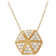 Stephen Webster 18 Karat Yellow Gold Full Pave Diamond Deco Pendant