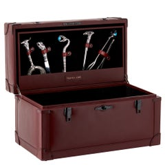Stephen Webster Full Tequila Bar Set with Case, Engraved Cow Detail