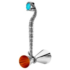 Stephen Webster Tequila Lore Snake Silver Measurer with Turquoise Crystal Haze